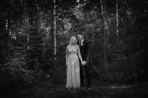 Fotografering av brudpar i Solna, Stockholm
